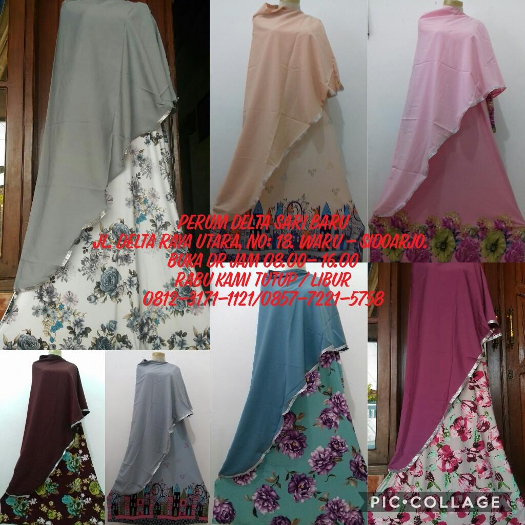 Grosir Baju Murah Surabaya,SMS/WA ORDER ke 0857-7221-5758 Sentra Kulakan Gamis Bergo Krep Syari Dewasa 64Ribu