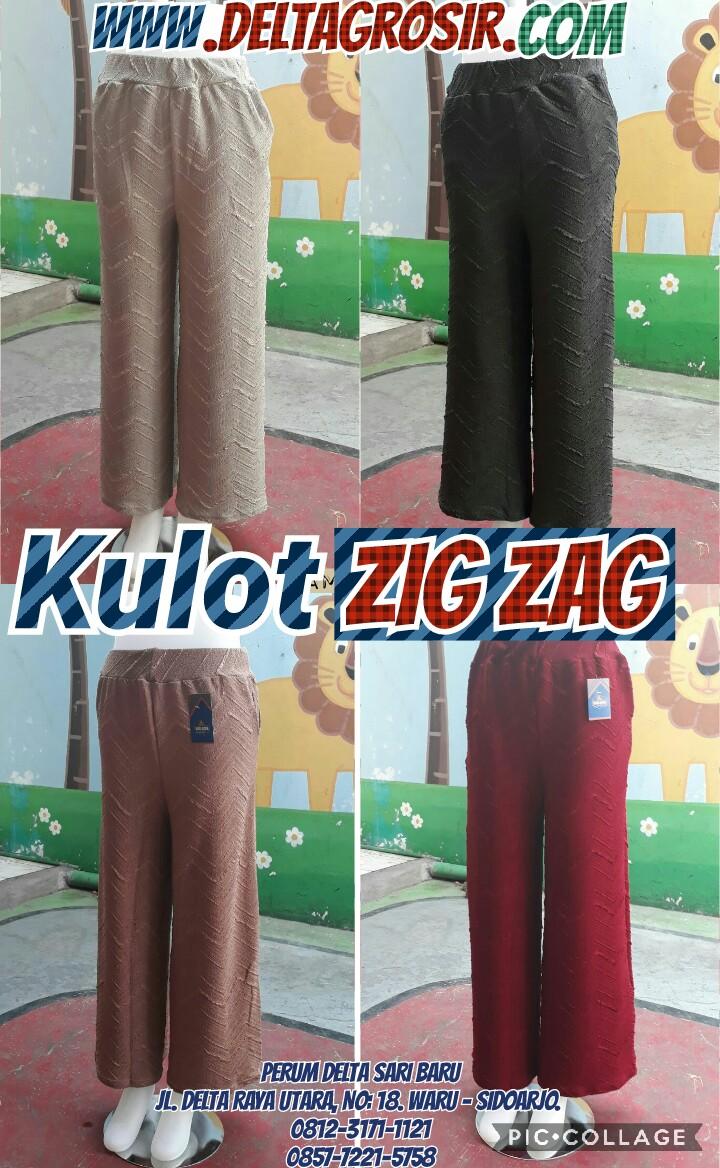 Grosir Baju Murah Surabaya,SMS/WA ORDER ke 0857-7221-5758 Kulakan Celana Kulot Zig Zag Wanita Dewasa Murah 33Ribu