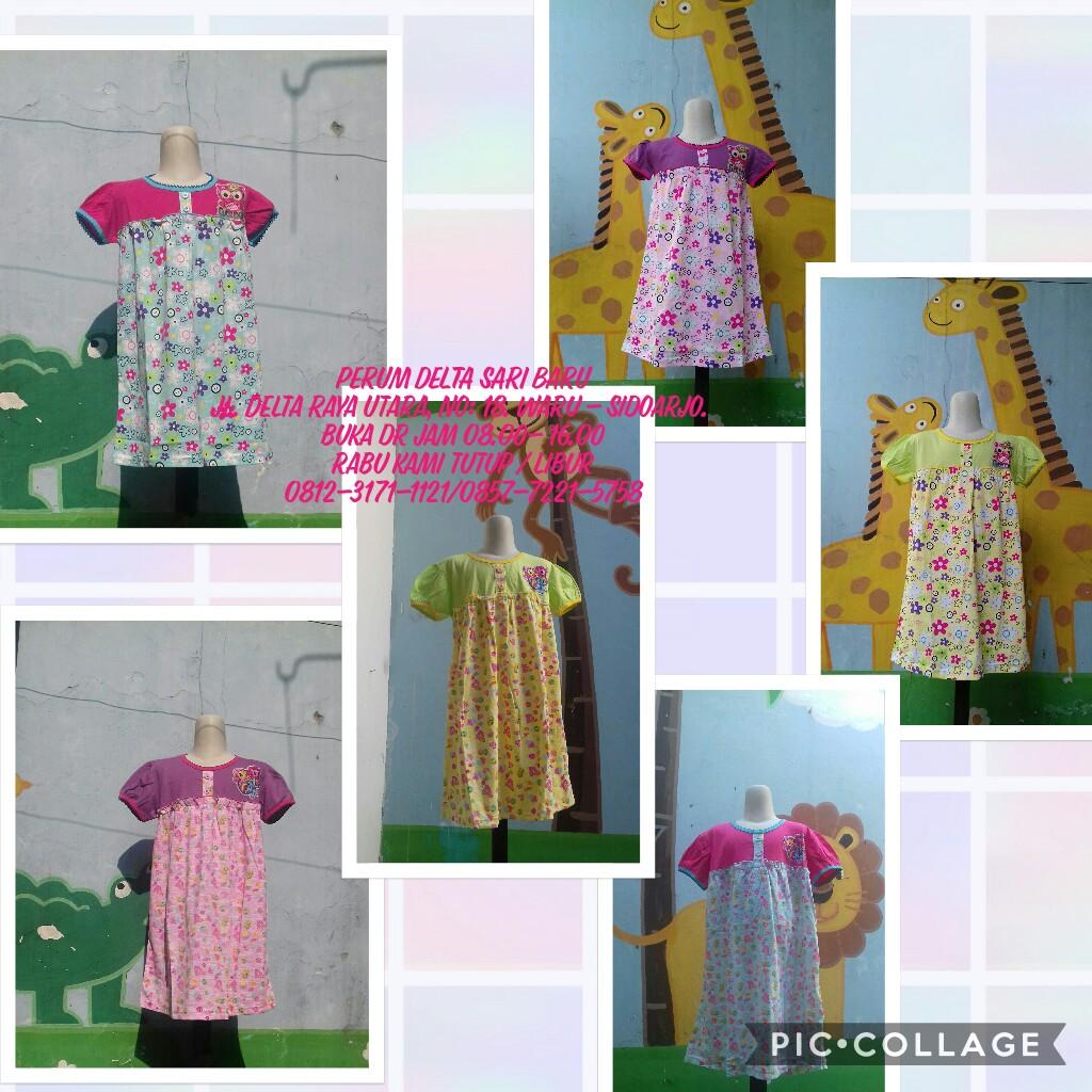 Grosir Baju Murah Surabaya,SMS/WA ORDER ke 0857-7221-5758 Pusat Kulakan Dress V3 Karakter Anak Perempuan Murah 25Ribu