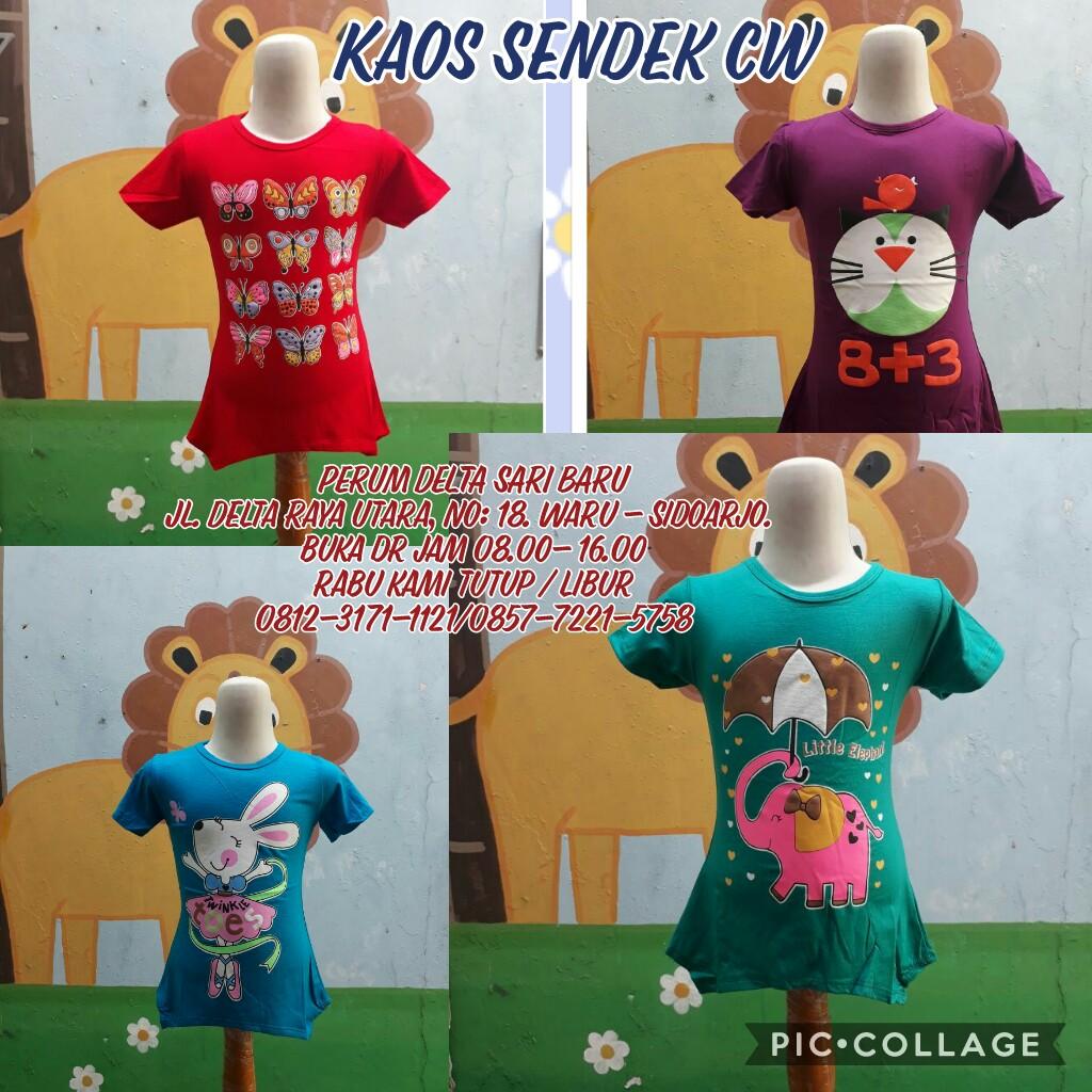 Grosir Baju Murah Surabaya,SMS/WA ORDER ke 0857-7221-5758 Sentra Kulakan Kaos Spandek Anak Perempuan Murah Rp.17.500