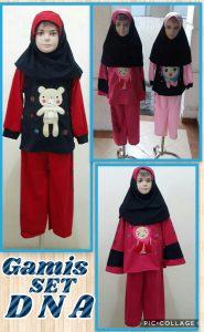 Grosir Baju Murah Surabaya,SMS/WA ORDER ke 0857-7221-5758 Distributor Gamis Setelan DNA Anak Perempuan Murah Surabaya