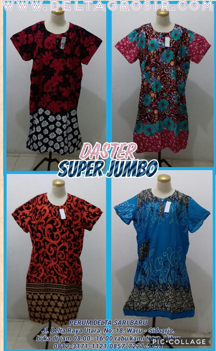 Grosir Baju Murah Surabaya,SMS/WA ORDER ke 0857-7221-5758 Pusat Kulakan Daster Jumbo Super Dewasa Murah Rp.26.500