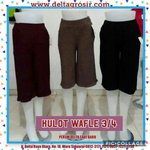 Grosir Baju Murah Surabaya,SMS/WA ORDER ke 0857-7221-5758 Supplier Celana Kulot Waffle 3 4 Wanita Dewasa Murah