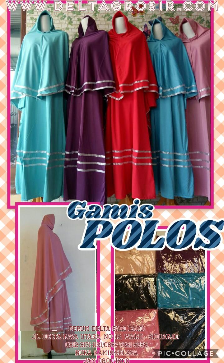 Grosir Baju Murah Surabaya,SMS/WA ORDER ke 0857-7221-5758 Supplier Gamis Jersey Polos Syari Dewasa Murah Surabaya 64Ribu