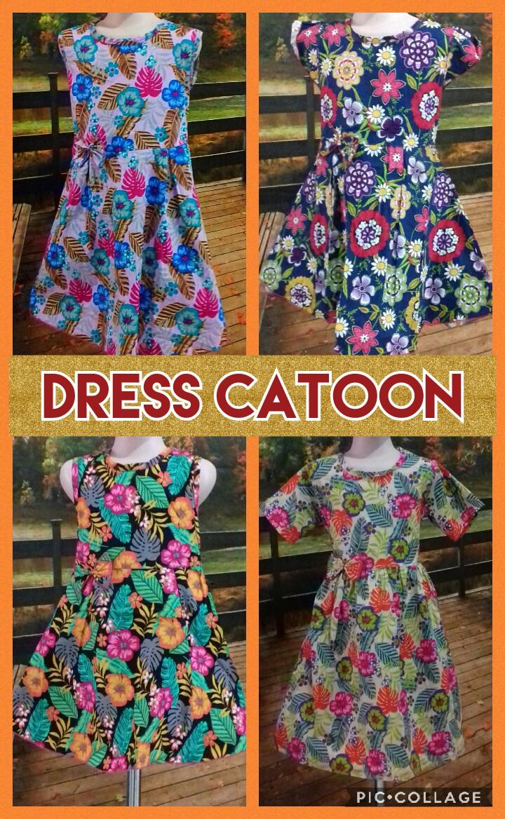 Grosir Baju Murah Surabaya,SMS/WA ORDER ke 0857-7221-5758 Kulakan Dress Catton Anak Perempuan Murah Surabaya 35Ribu