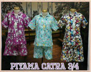 Grosir Baju Murah Surabaya,SMS/WA ORDER ke 0857-7221-5758 Supplier Piyama Katun Catra Dewasa 34 Murah Surabaya