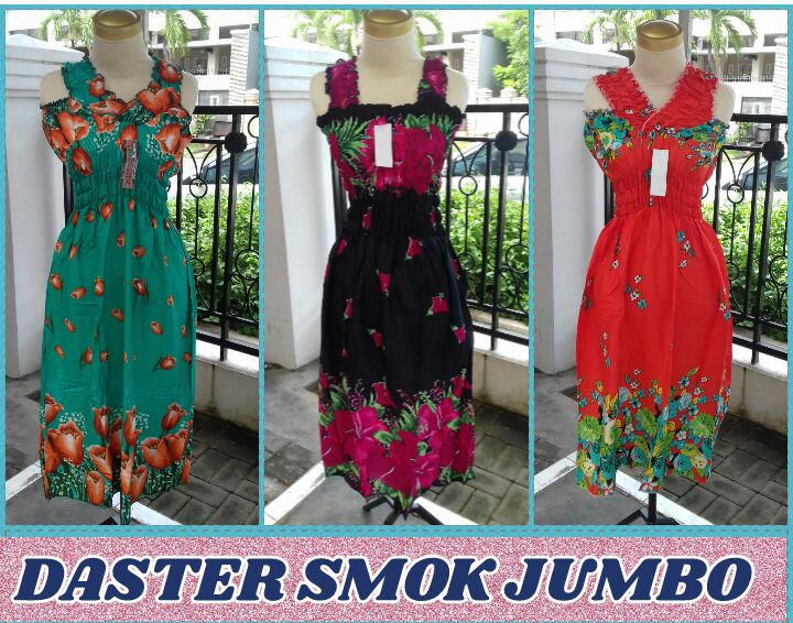 Grosir Baju Murah Surabaya,SMS/WA ORDER ke 0857-7221-5758 Distributor Daster Smok Jumbo Dewasa Murah Surabaya 27Ribu