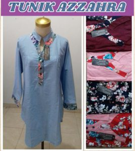 Grosir Baju Murah Surabaya,SMS/WA ORDER ke 0857-7221-5758 Konveksi Baju Tunik Az Zahra Wanita Dewasa Murah Surabaya