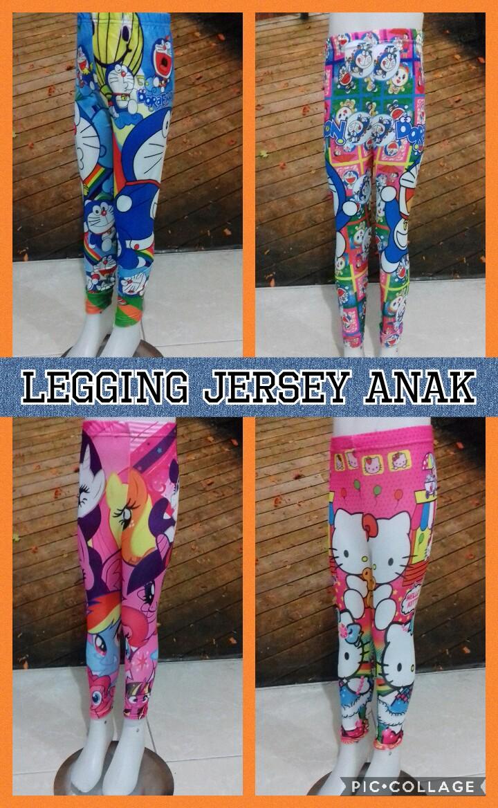 Grosir Baju Murah Surabaya,SMS/WA ORDER ke 0857-7221-5758 Pabrik Celana Legging Jersey Anak Karakter Murah Surabaya 18Ribu