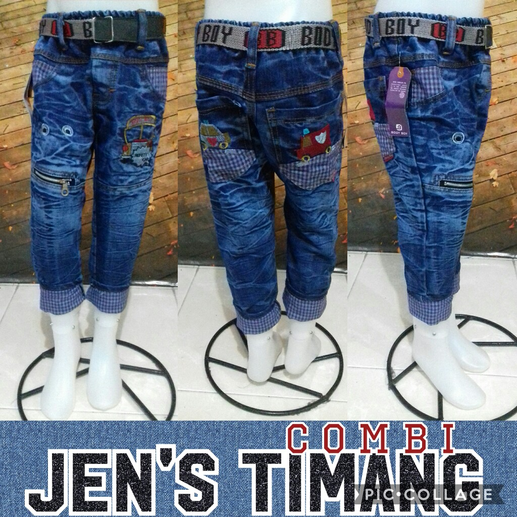 Grosir Baju Murah Surabaya,SMS/WA ORDER ke 0857-7221-5758 Produsen Celana Jeans Timang Combi Anak Murah 45Ribu