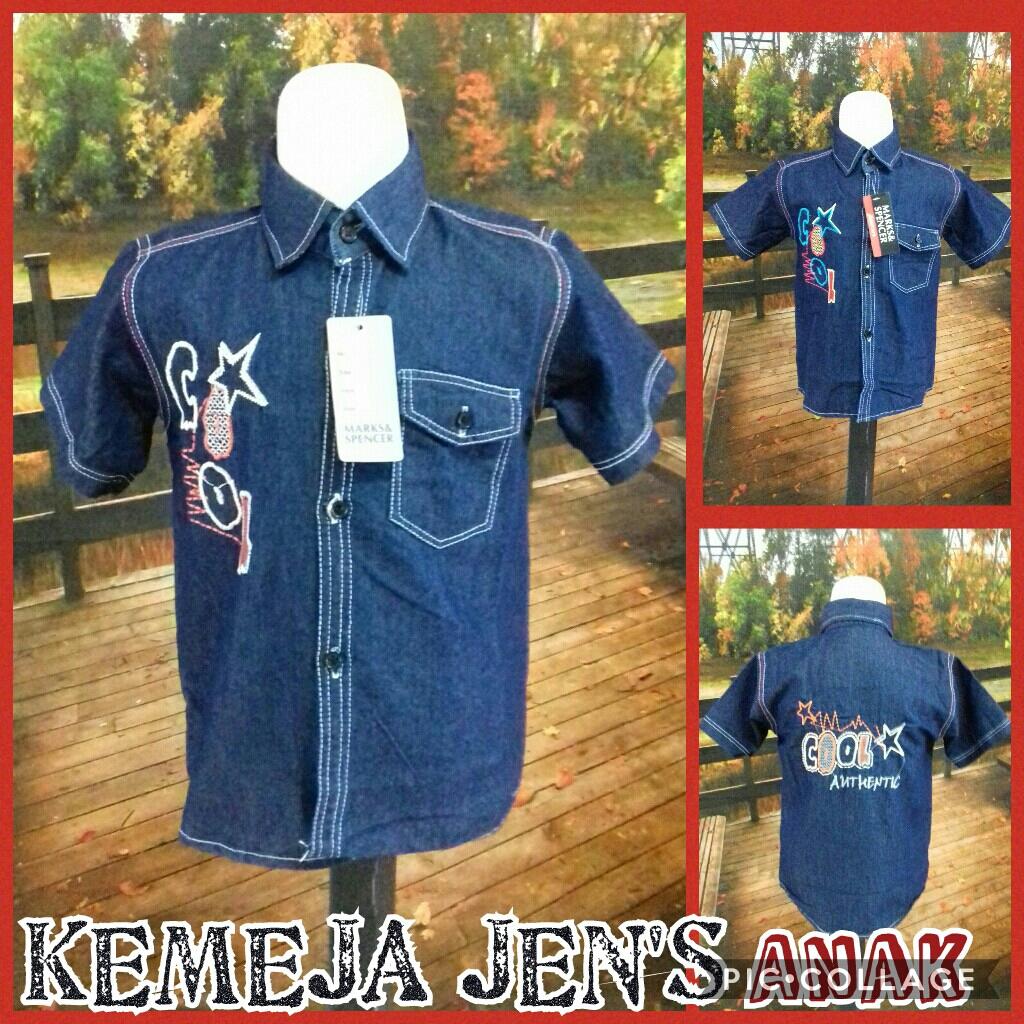 Grosir Baju Murah Surabaya,SMS/WA ORDER ke 0857-7221-5758 Supplier Kemeja Jeans Anak Laki Laki Murah di Surabaya 28Ribu