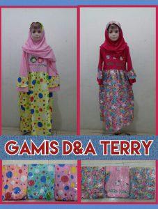Grosir Baju Murah Surabaya,SMS/WA ORDER ke 0857-7221-5758 Konveksi GAMIS DNA TERRY Anak Perempuan Murah