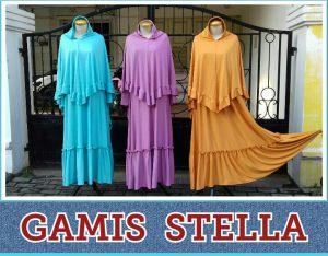Grosir Baju Murah Surabaya,SMS/WA ORDER ke 0857-7221-5758 Supplier Gamis Stella Perempuan Murah