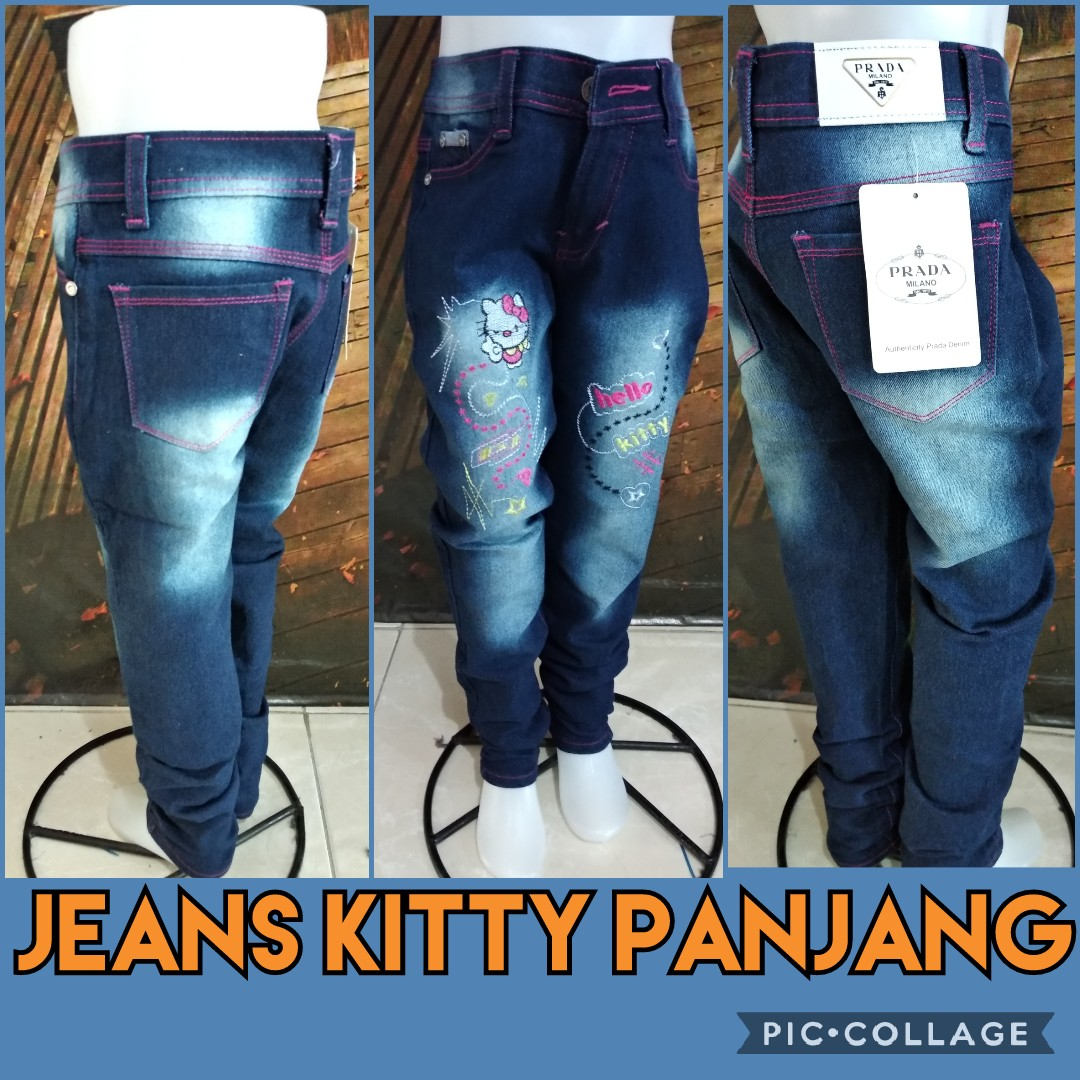 Grosir Baju Murah Surabaya,SMS/WA ORDER ke 0857-7221-5758 Distributor Celana Jeans Kitty Panjang Murah 44ribuan
