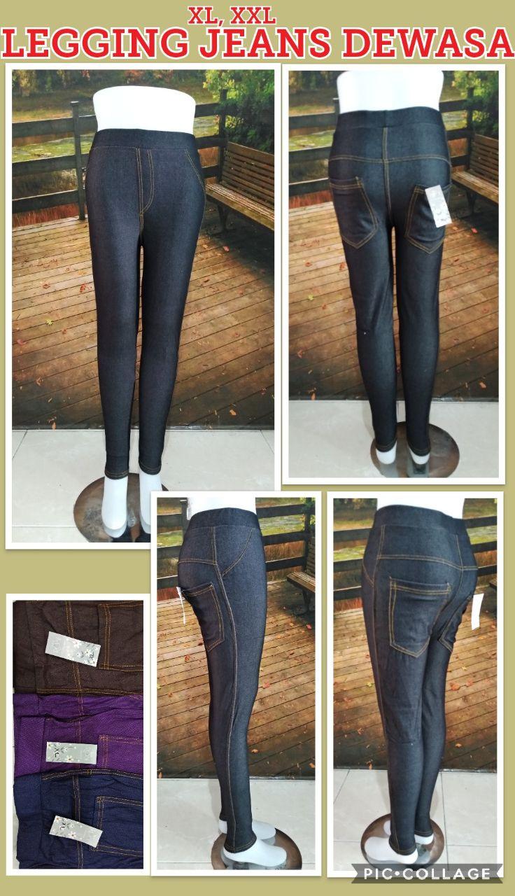 Grosir Baju Murah Surabaya,SMS/WA ORDER ke 0857-7221-5758 Supplier Legging Jeans Dewasa Murah 28ribuan