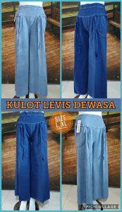 Grosir Baju Murah Surabaya,SMS/WA ORDER ke 0857-7221-5758 Kulakan Celana Kulot Levis Dewasa Murah 40Ribuan