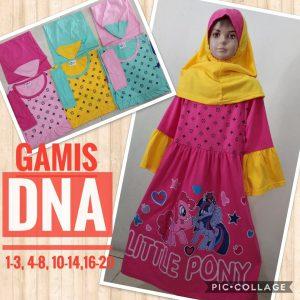 Grosir Baju Murah Surabaya,SMS/WA ORDER ke 0857-7221-5758 Grosir Gamis DNA Anak Terbaru Murah 32ribuan