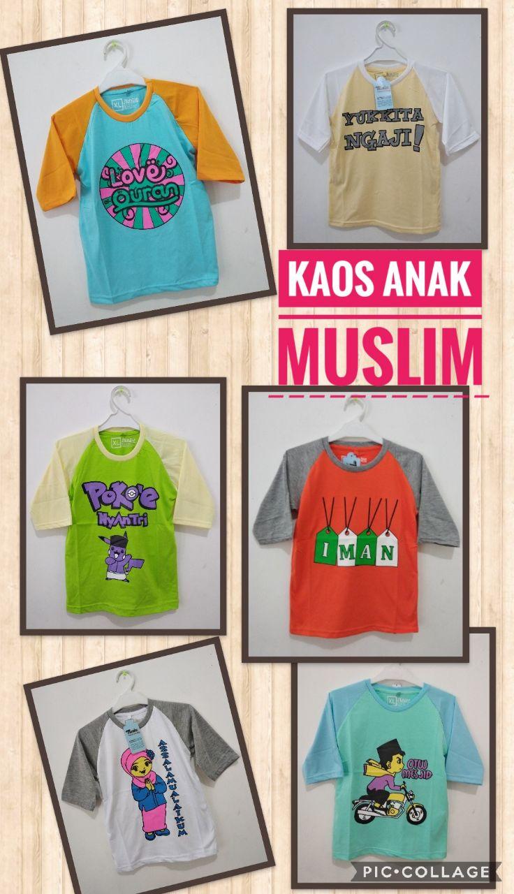 Grosir Baju Murah Surabaya,SMS/WA ORDER ke 0857-7221-5758 Konveksi Kaos Muslim Anak Murah 17ribuan