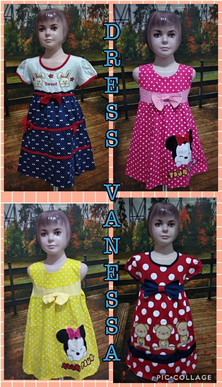 Grosir Baju Murah Surabaya,SMS/WA ORDER ke 0857-7221-5758 Konveksi Dress Vanessa Anak Murah 40ribuan