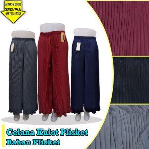 Grosir Baju Murah Surabaya,SMS/WA ORDER ke 0857-7221-5758 Supplier Celana Kulot Plisket Murah 34ribuan