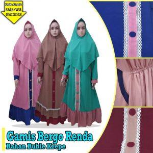 Grosir Baju Murah Surabaya,SMS/WA ORDER ke 0857-7221-5758 Grosir Gamis Renda Dewasa Murah 125ribuan