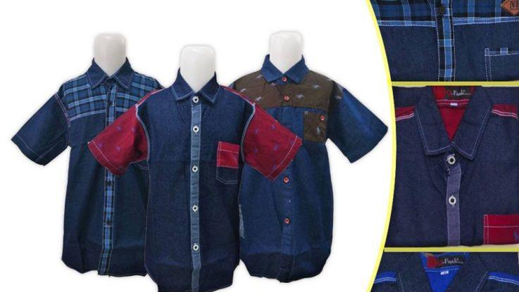 Grosir Baju Murah Surabaya,SMS/WA ORDER ke 0857-7221-5758 Obral Kemeja Jeans Anak Murah di Surabaya