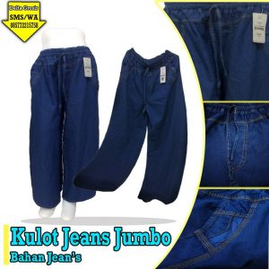 Grosir Baju Murah Surabaya,SMS/WA ORDER ke 0857-7221-5758 Grosir Celana Kulot Jeans Dewasa Murah di Surabaya