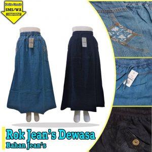 Grosir Baju Murah Surabaya,SMS/WA ORDER ke 0857-7221-5758 Konveksi Rok Jeans Dewasa Murah di Surabaya