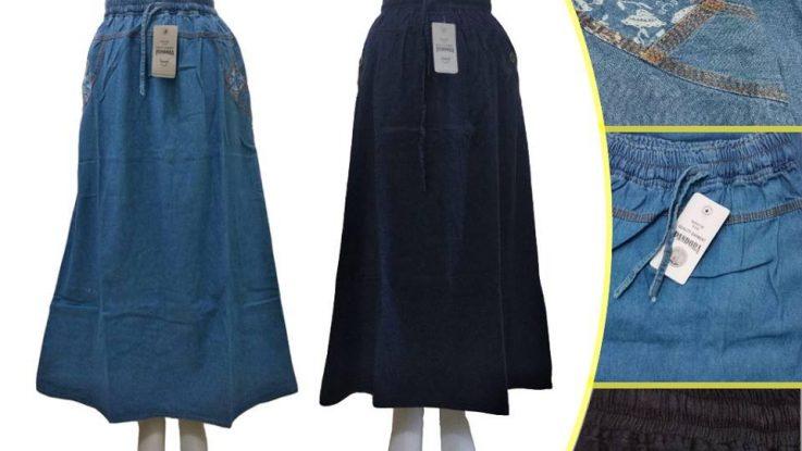 Grosir Baju Murah Surabaya,SMS/WA ORDER ke 0857-7221-5758 Pusat Kulakan Rok Jeans Dewasa Murah di Surabaya