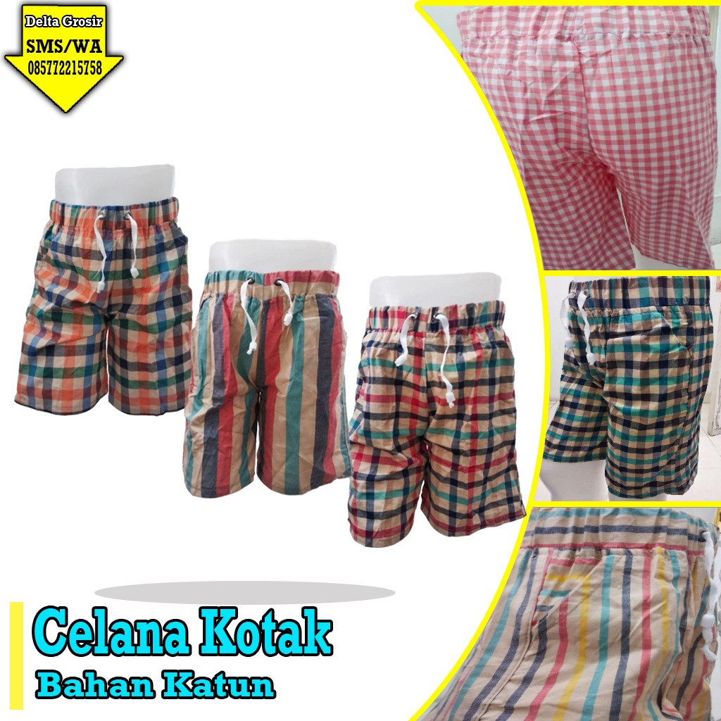 Grosir Baju Murah Surabaya,SMS/WA ORDER ke 0857-7221-5758 Konveksi Celana Kotak Anak Murah di Surabaya