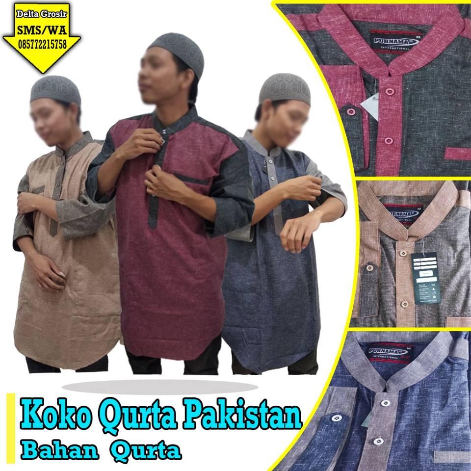 Grosir Baju Murah Surabaya,SMS/WA ORDER ke 0857-7221-5758 Supplier Koko Qurta Dewasa Murah di Surabaya