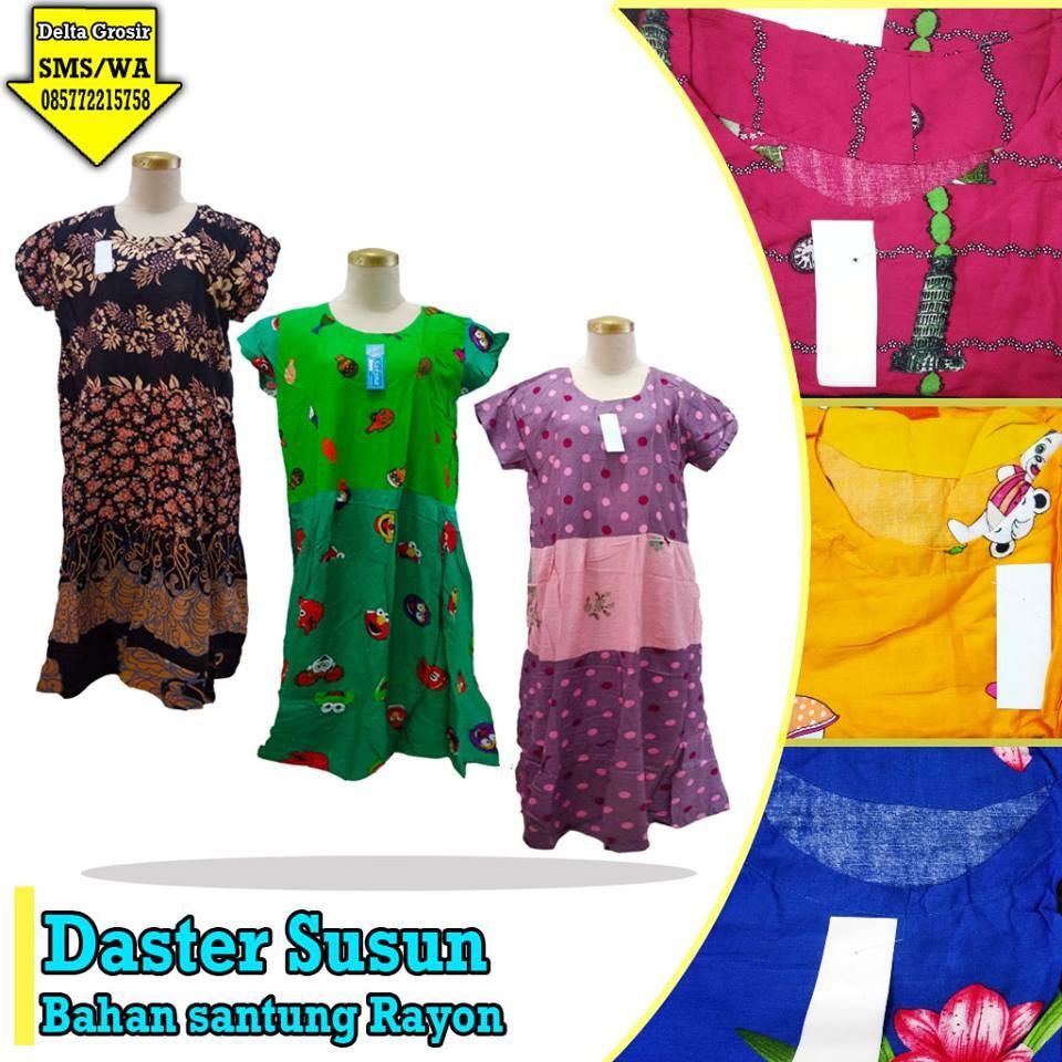 Grosir Baju Murah Surabaya,SMS/WA ORDER ke 0857-7221-5758 Distributor Daster Susun Dewasa Murah di Surabaya