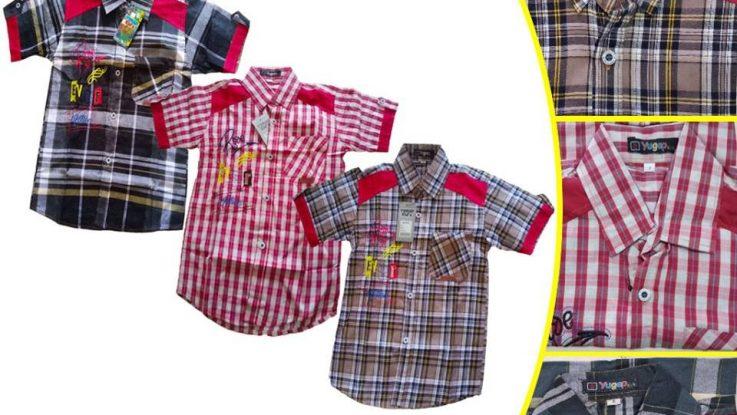 Grosir Baju Murah Surabaya,SMS/WA ORDER ke 0857-7221-5758 Distributor Kemeja Yogap Anak Murah di Surabaya