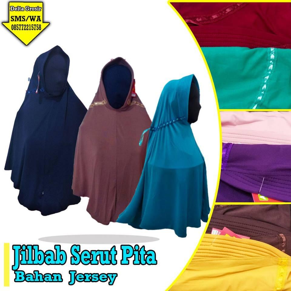 Grosir Baju Murah Surabaya,SMS/WA ORDER ke 0857-7221-5758 Distributor Jilbab Serut Pita Dewasa Murah di Surabaya