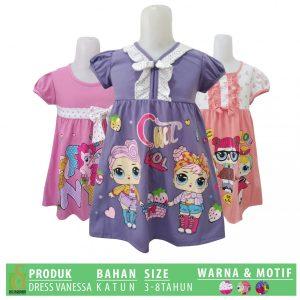 Grosir Baju Murah Surabaya,SMS/WA ORDER ke 0857-7221-5758 Grosir Dress Vanessa Anak Murah di Surabaya