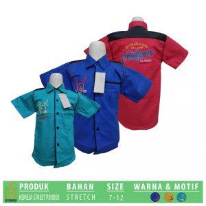 Grosir Baju Murah Surabaya,SMS/WA ORDER ke 0857-7221-5758 Pabrik Kemeja Street Pendek Anak Murah di Surabaya