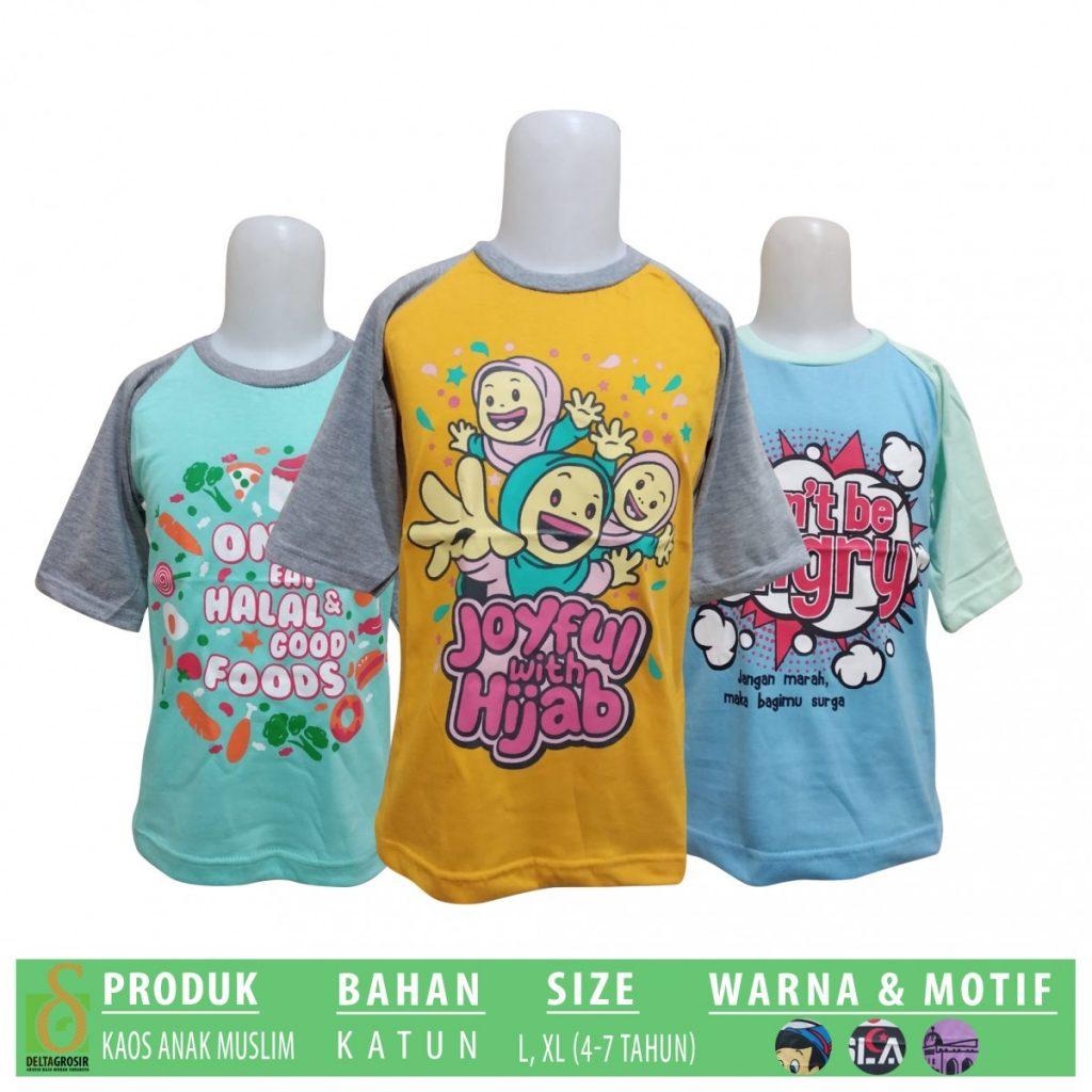 Grosir Baju Murah Surabaya,SMS/WA ORDER ke 0857-7221-5758 Produsen Kaos Anak Muslim Murah di Surabaya