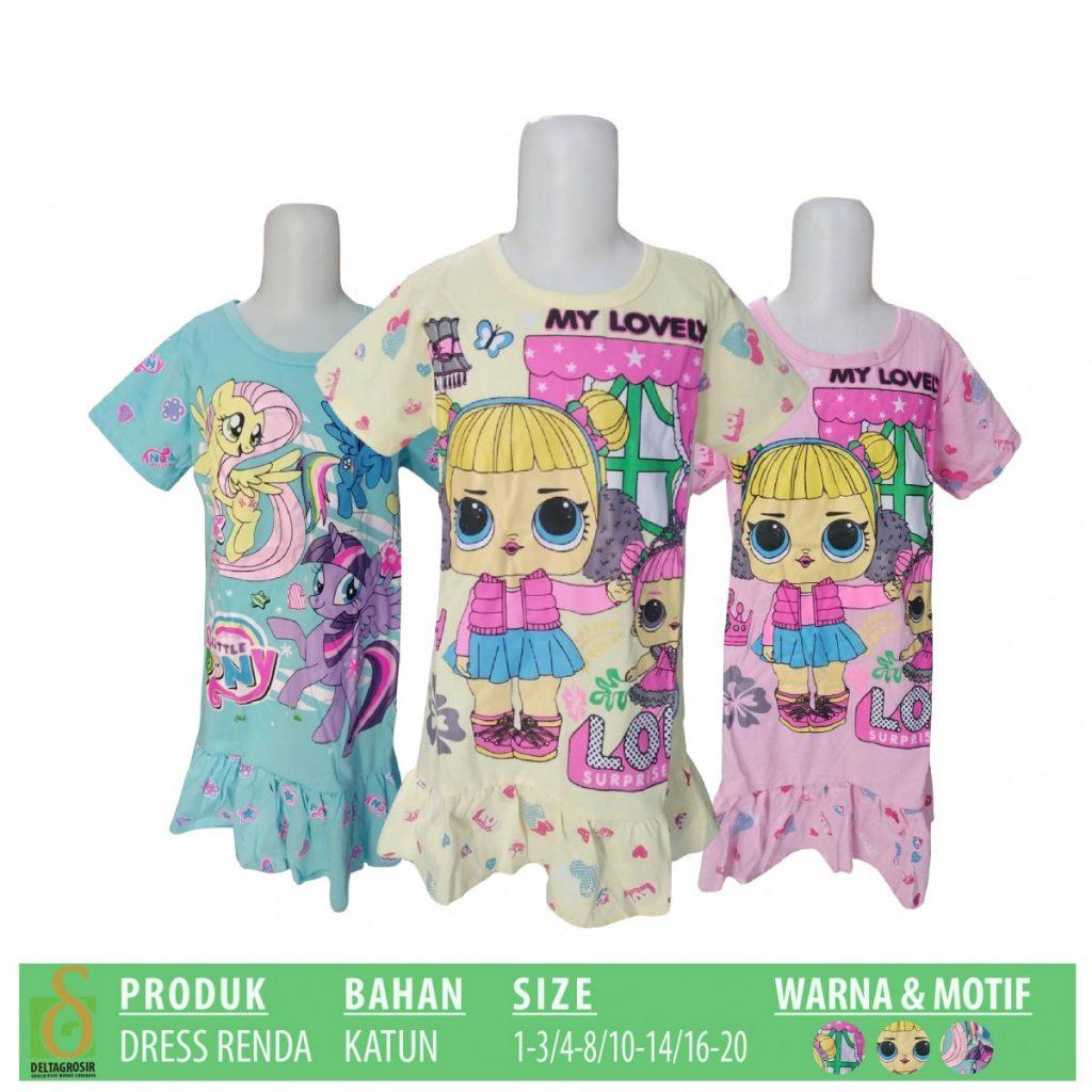 Grosir Baju Murah Surabaya,SMS/WA ORDER ke 0857-7221-5758 Pusat Grosir Dress Renda Anak Murah di Surabaya