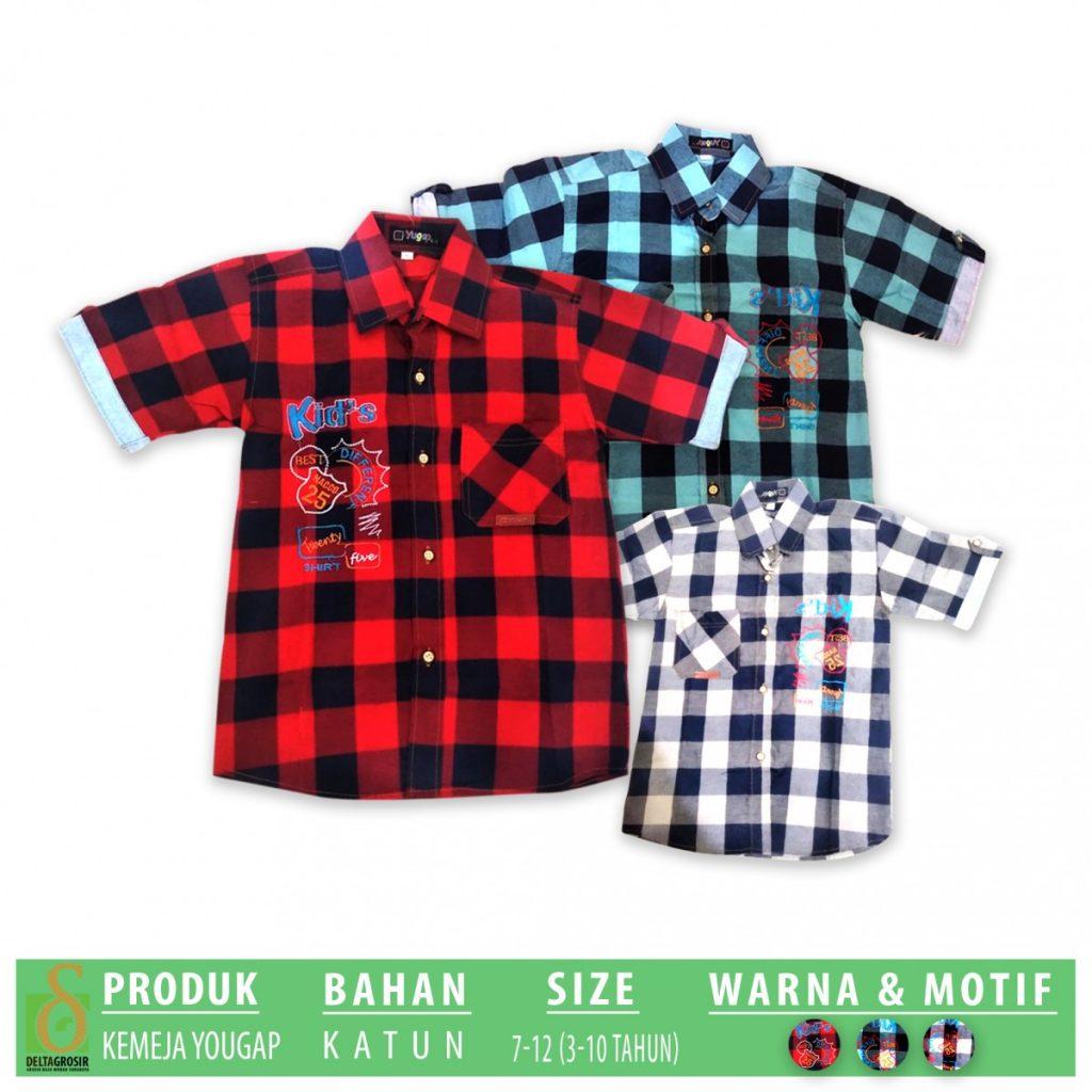 Grosir Baju Murah Surabaya,SMS/WA ORDER ke 0857-7221-5758 Distributor Kemeja Yougap Anak Murah di Surabaya
