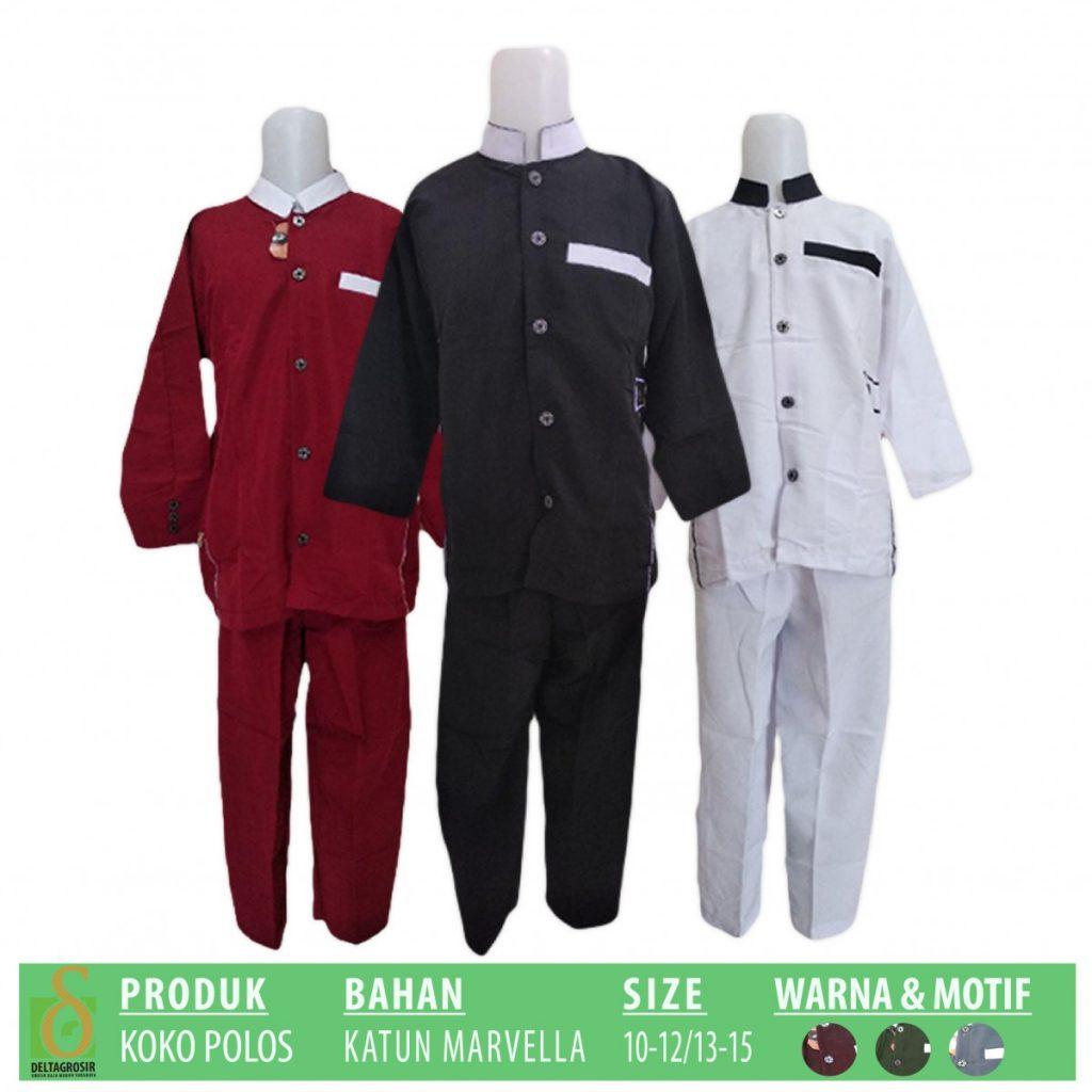 Grosir Baju Murah Surabaya,SMS/WA ORDER ke 0857-7221-5758 Pusat Kulakan Koko Polos Anak Murah di Surabaya