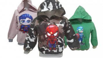 Grosir Baju Murah Surabaya,SMS/WA ORDER ke 0857-7221-5758 Supplier Sweater Hoody LED Anak Murah di Surabaya