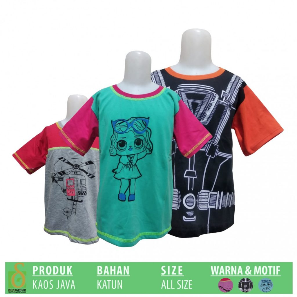 Grosir Baju Murah Surabaya,SMS/WA ORDER ke 0857-7221-5758 Produsen Kaos Java Anak Murah di Suarbaya
