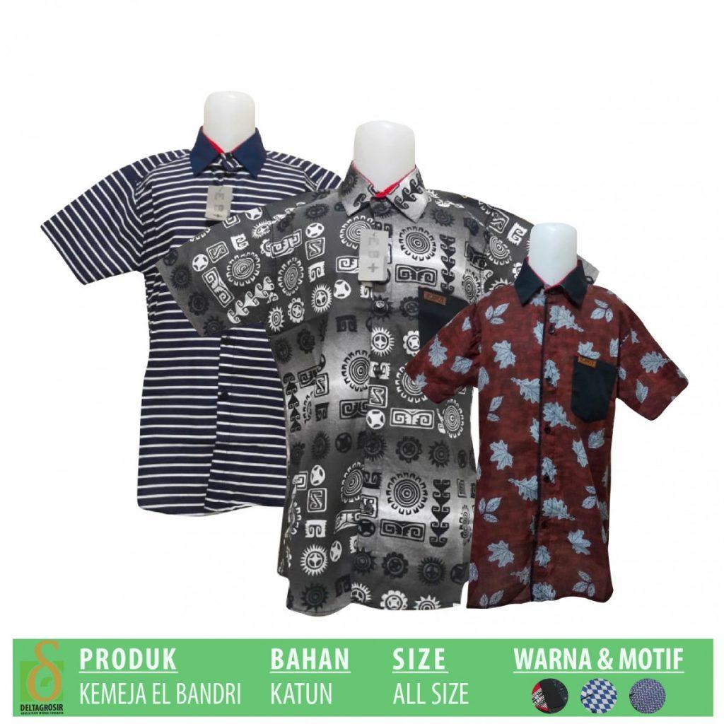 Grosir Baju Murah Surabaya,SMS/WA ORDER ke 0857-7221-5758 Pusat Grosir Kemeja EL Bandri Anak Murah di Surabaya