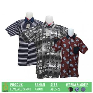 Grosir Baju Murah Surabaya,SMS/WA ORDER ke 0857-7221-5758 Pabrik Kemeja EL Bandri Anak Murah di Surabaya