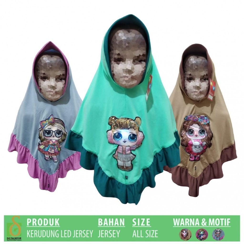 Grosir Baju Murah Surabaya,SMS/WA ORDER ke 0857-7221-5758 Distributor Kerudung Jersey LED Anak Murah di Surabaya