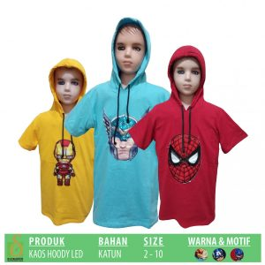 Grosir Baju Murah Surabaya,SMS/WA ORDER ke 0857-7221-5758 Produsen Kaos Hoody LED Anak Murah di Surabaya