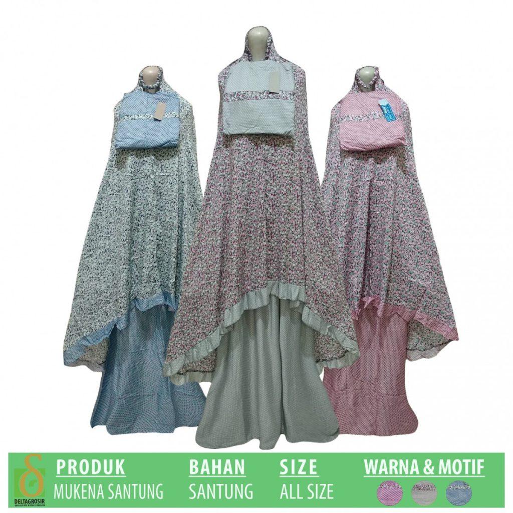 Grosir Baju Murah Surabaya,SMS/WA ORDER ke 0857-7221-5758 Supplier Mukena Santung Dewasa Murah di Surabaya